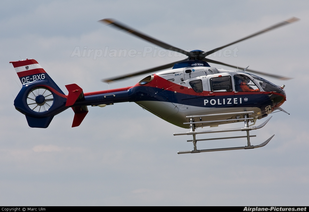 Austria - Police OE-BXG aircraft at Donauwörth - Eurocopter Heliport