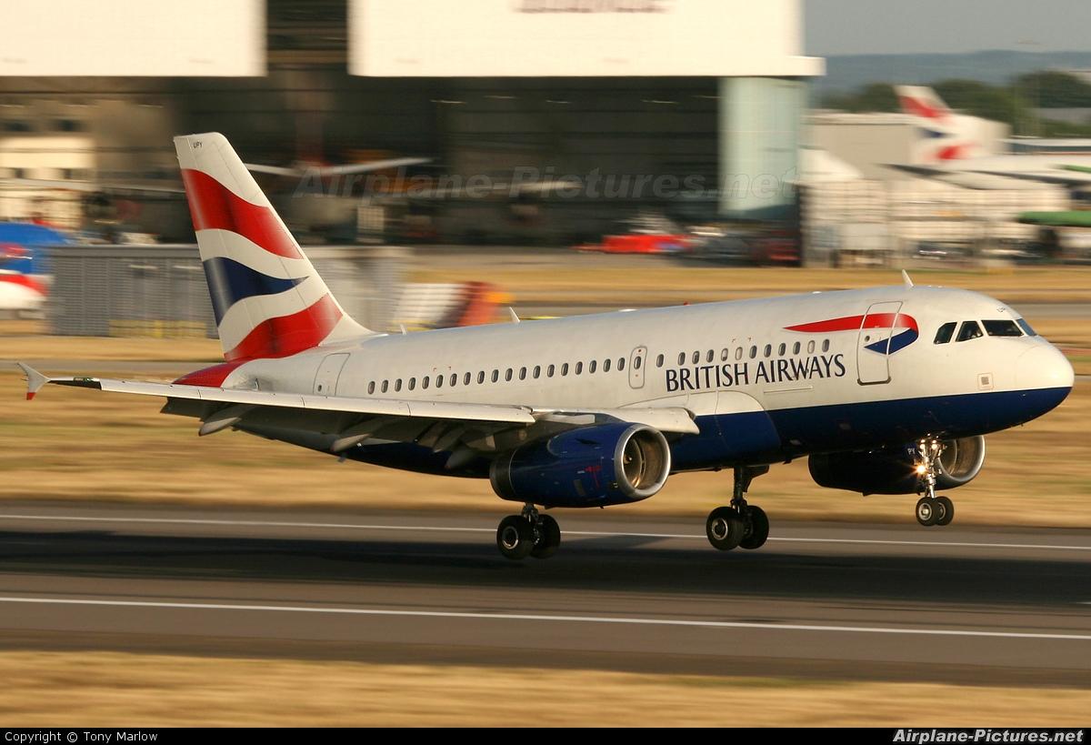 British Airways G-EUPY aircraft at London - Heathrow