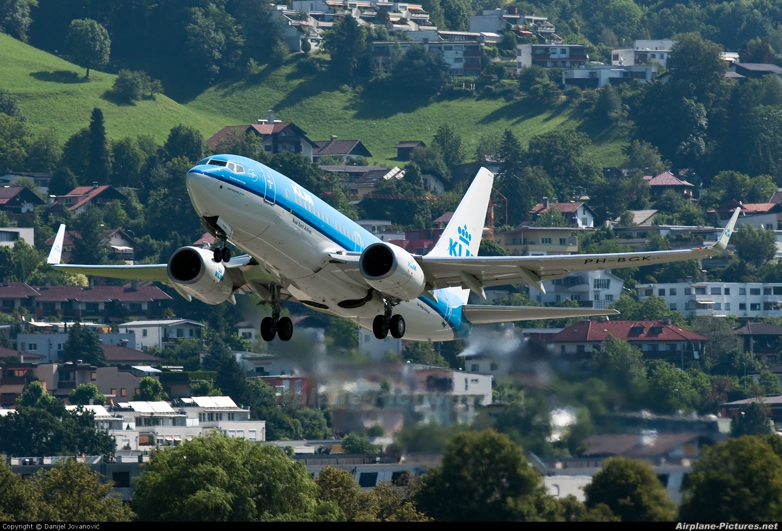 KLM PH-BGK aircraft at Innsbruck
