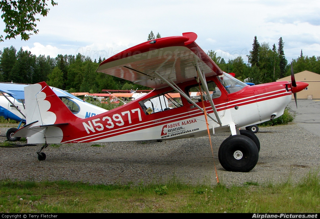 Above Alaska Aviation N53977 aircraft at Talkeetna
