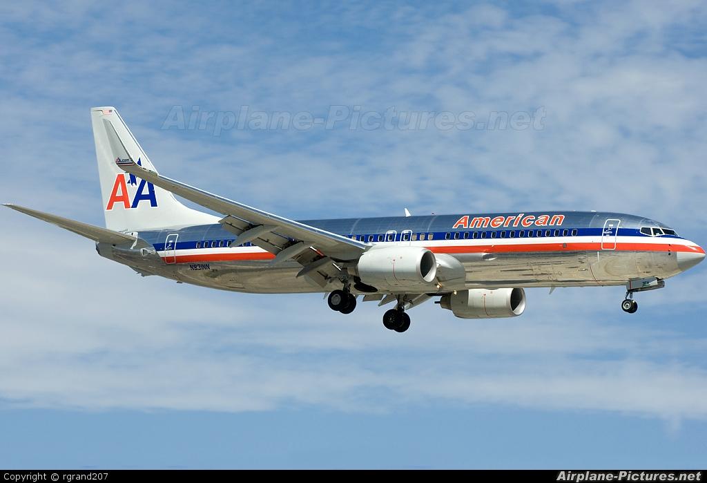American Airlines N831NN aircraft at John Wayne, Orange county