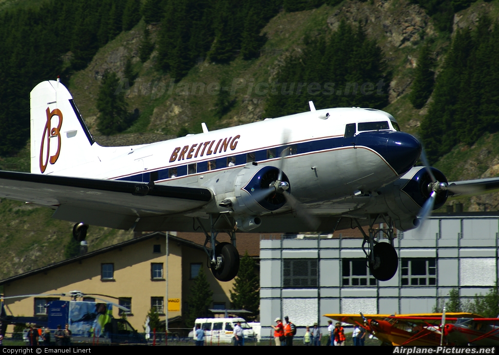 Super Constellation Flyers HB-IRJ aircraft at Samedan - Engadin