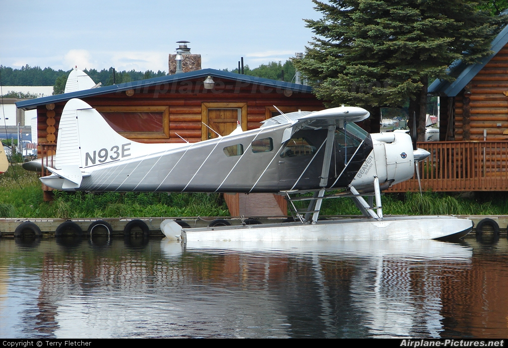 Private N93E aircraft at Anchorage - Lake Hood