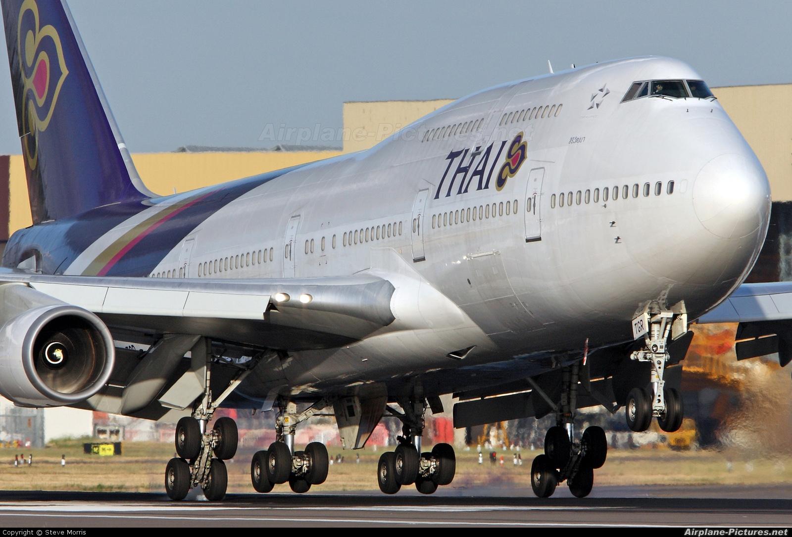 Thai Airways HS-TGR aircraft at London - Heathrow
