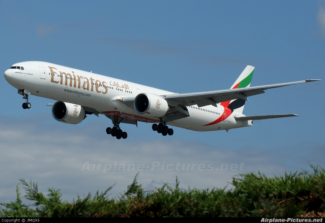 Emirates Airlines A6-ECH aircraft at London - Heathrow