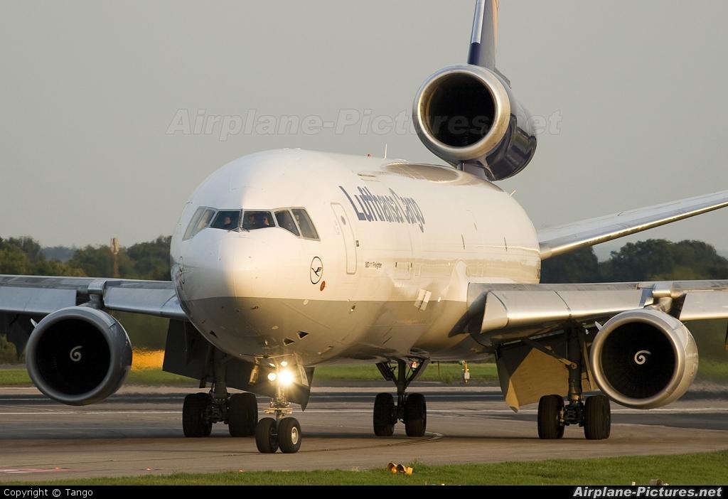 Lufthansa Cargo D-ALCJ aircraft at Manchester