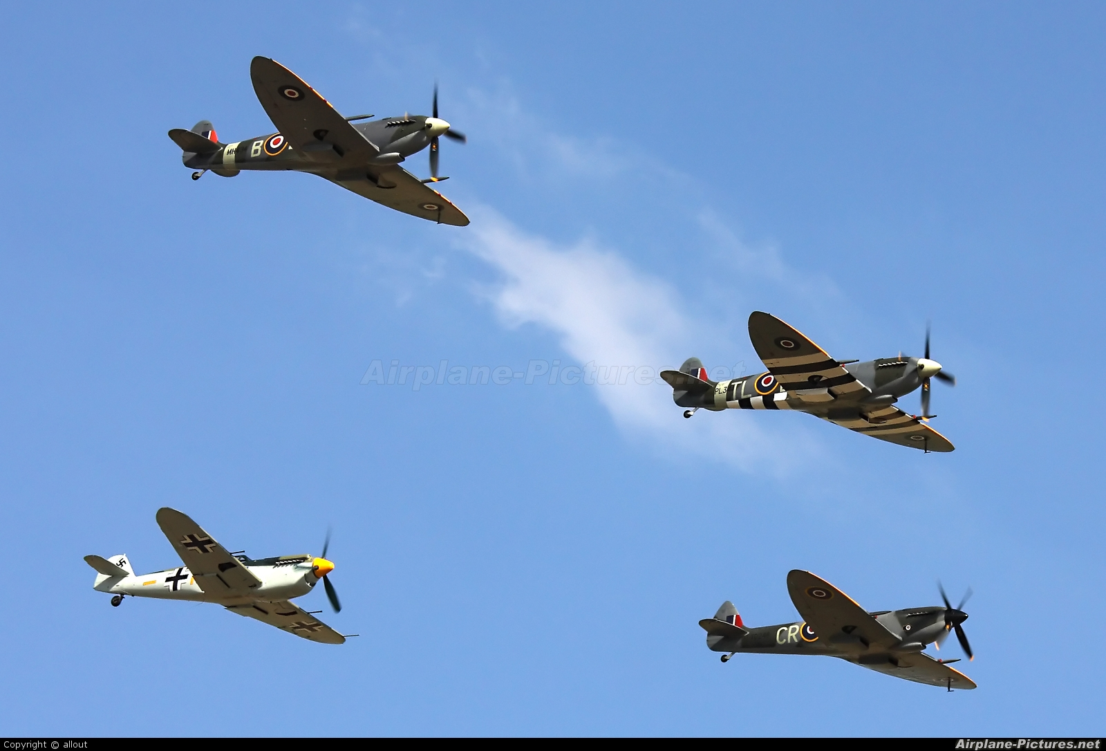 Spitfire G-IXCC aircraft at Duxford