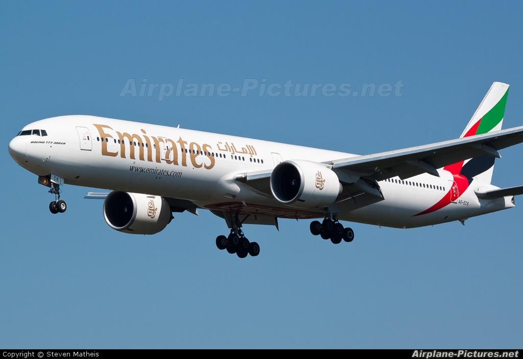 Emirates Airlines A6-ECK aircraft at Frankfurt