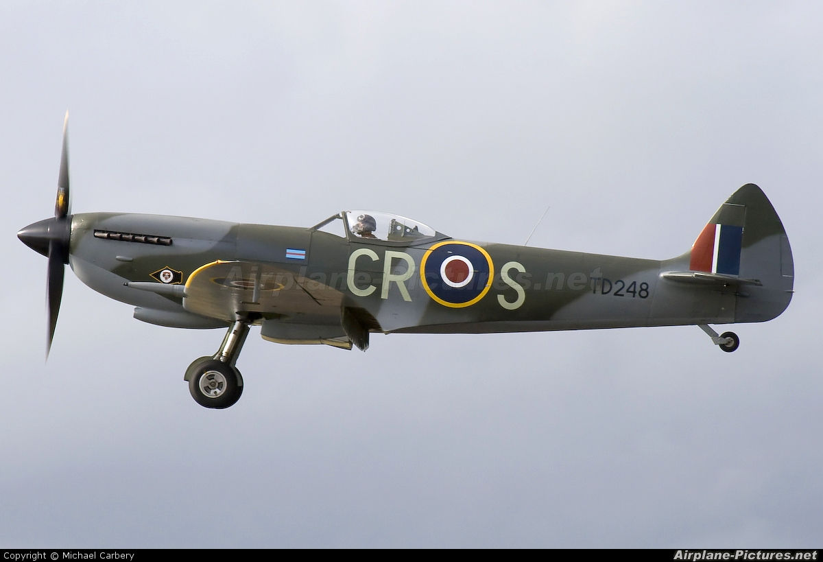 Spitfire G-OXVI aircraft at Fairford