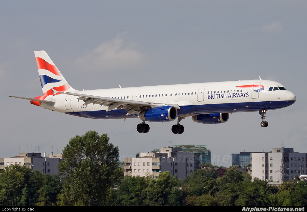 British Airways G-EUXG aircraft at Milan - Linate