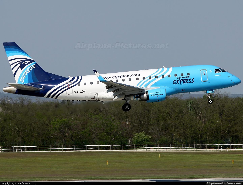 Egyptair Express SU-GDK aircraft at Budapest Ferenc Liszt International Airport