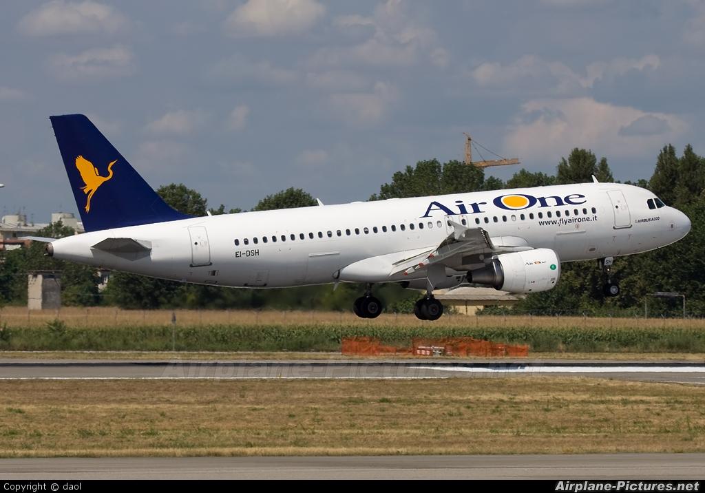 Air One EI-DSH aircraft at Milan - Linate
