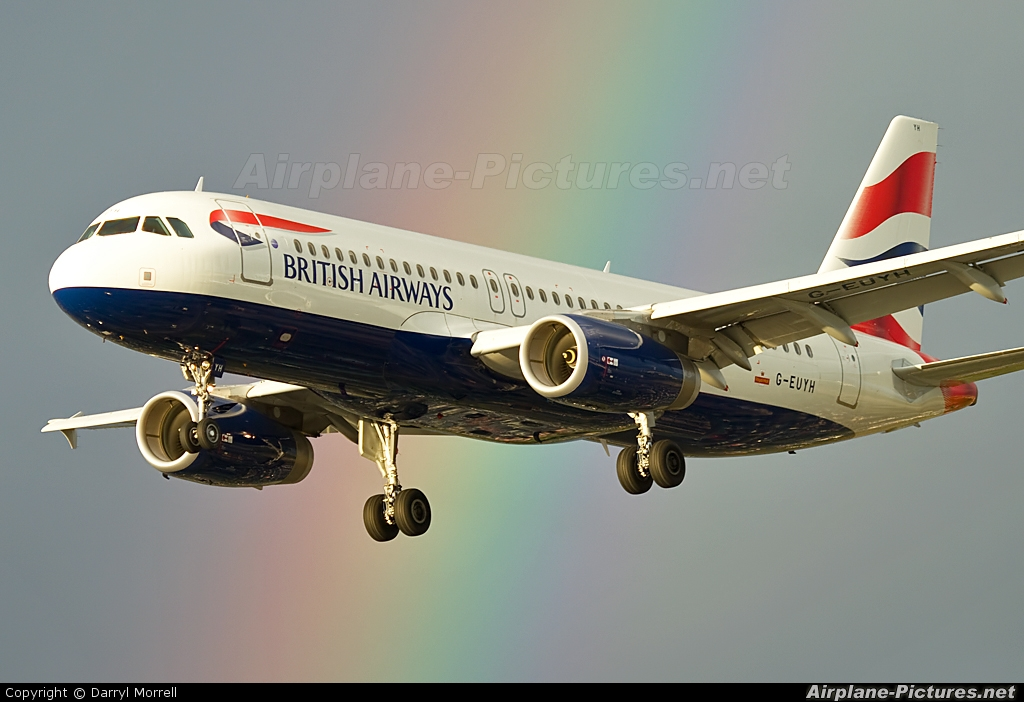 British Airways G-EUYH aircraft at London - Heathrow