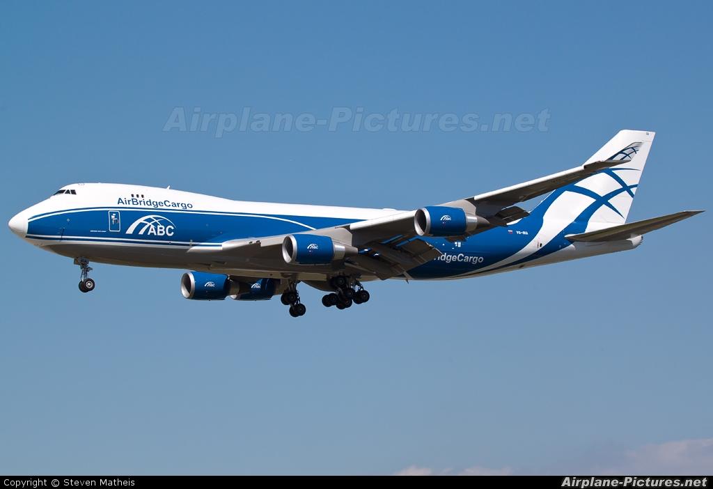 Air Bridge Cargo VQ-BIA aircraft at Frankfurt