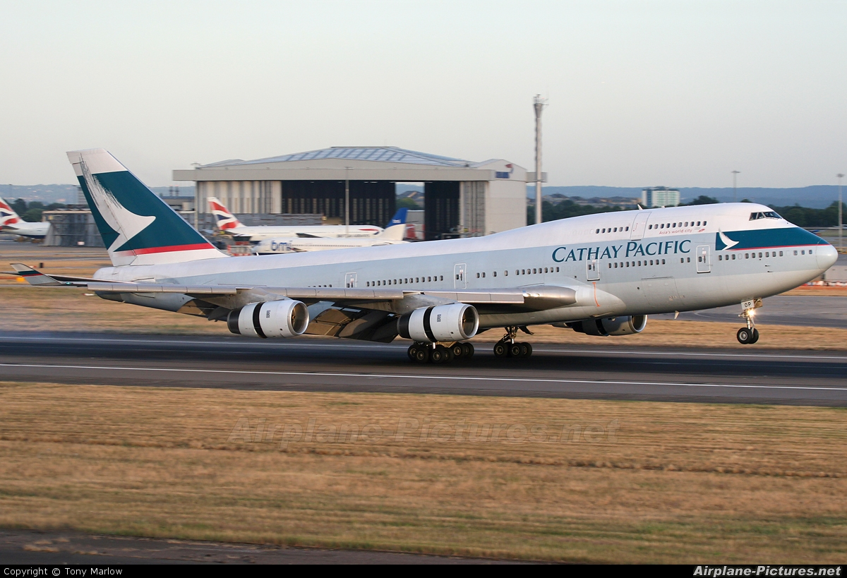 Cathay Pacific B-HOP aircraft at London - Heathrow