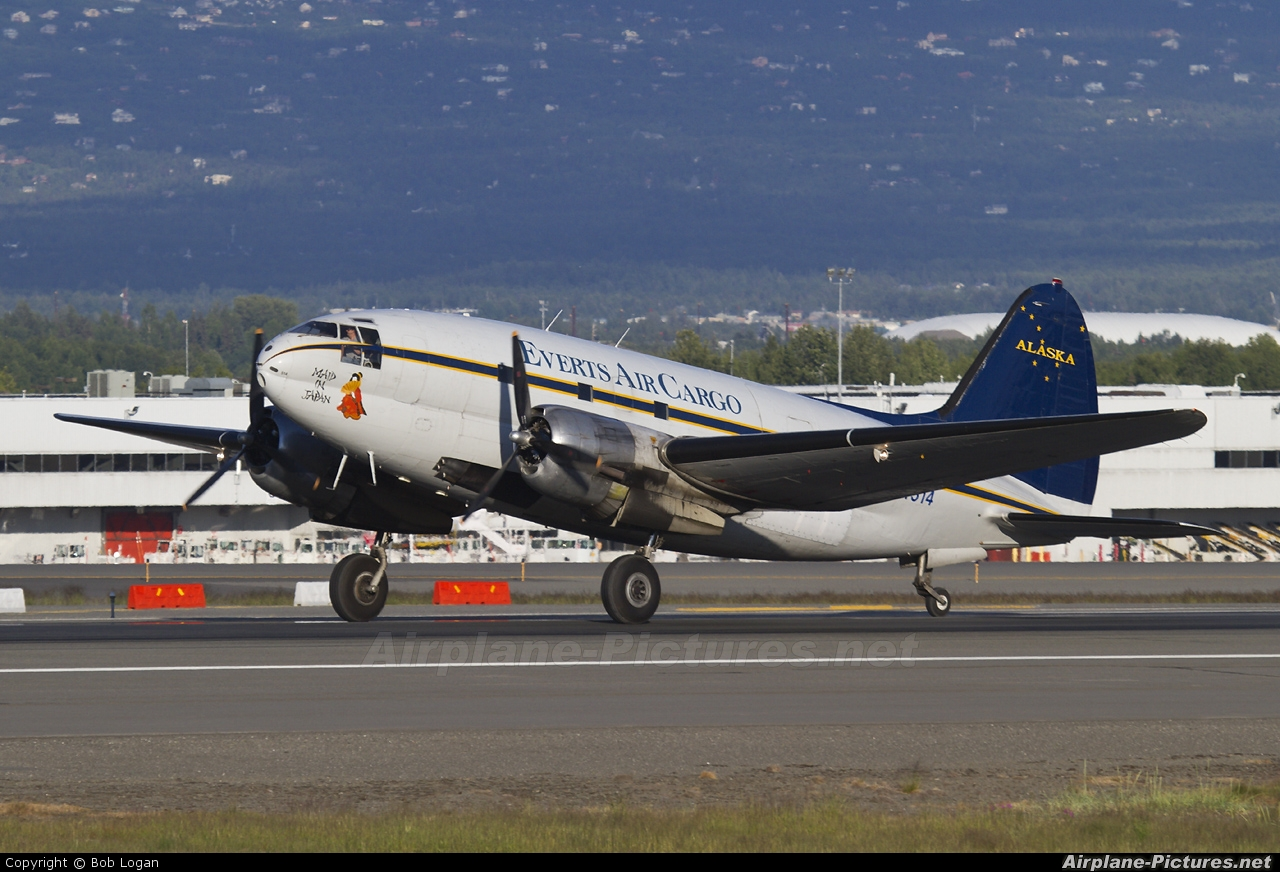Everts Air Cargo N54514 aircraft at Anchorage - Ted Stevens Int / Kulis Air National Guard Base