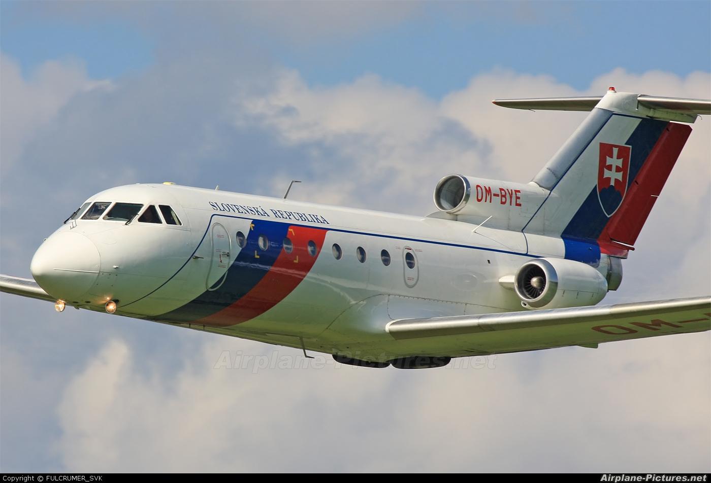 Slovakia - Government OM-BYE aircraft at Dubnica nad Vahom - Slavnica