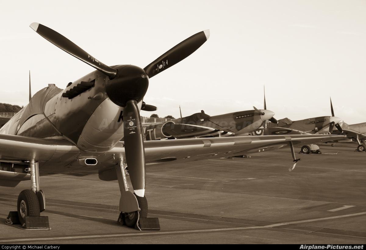 "Royal Air Force ""Battle of Britain Memorial Flight"" P7350 aircraft at Fairford"