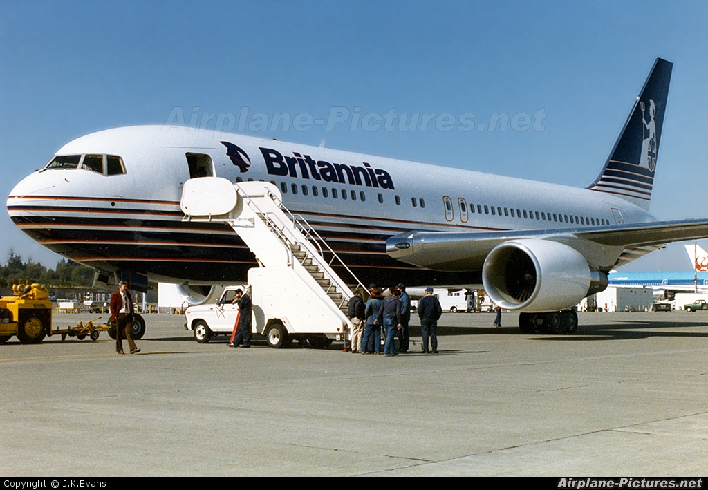 Britannia Airways G-BKPW aircraft at Everett - Snohomish County / Paine Field