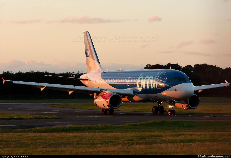 BMI British Midland G-DBCD aircraft at Edinburgh