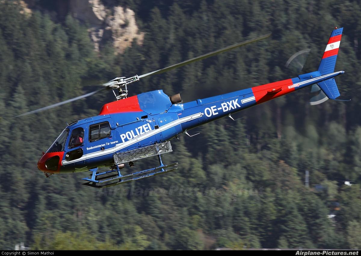 Austria - Police OE-BXK aircraft at Innsbruck