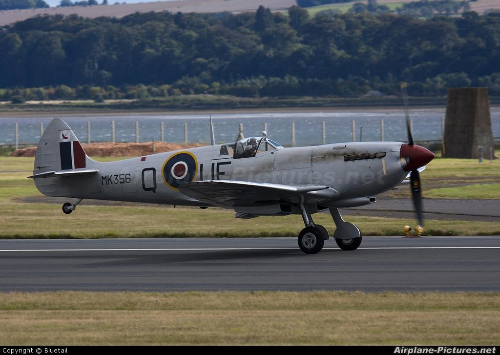 "Royal Air Force ""Battle of Britain Memorial Flight&quot MK356 aircraft at Leuchars"