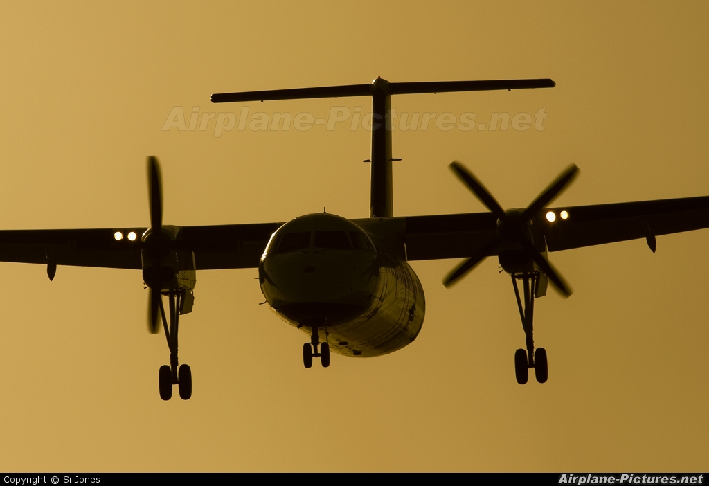 Air Southwest G-WOWD aircraft at Newquay