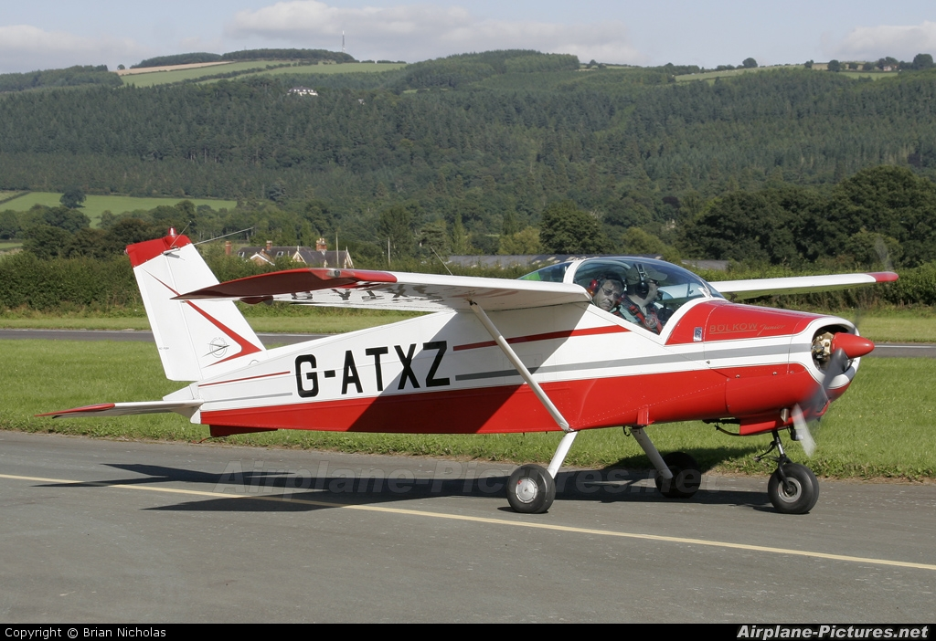 Private G-ATXZ aircraft at Welshpool