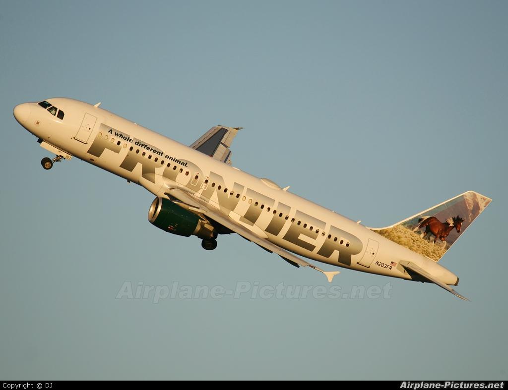 Frontier Airlines N203FR aircraft at Washington - Ronald Reagan National
