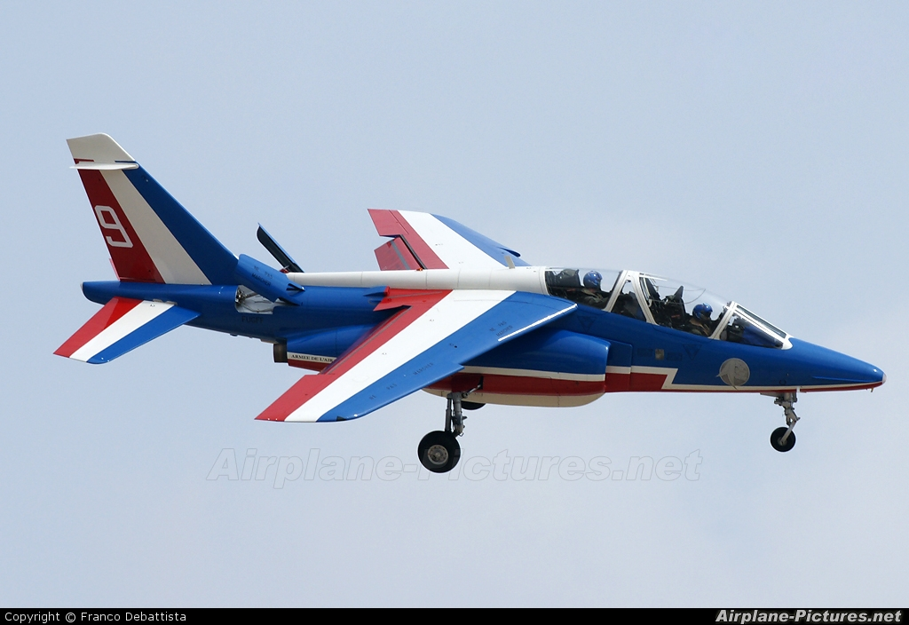 "France - Air Force ""Patrouille de France"" E163 aircraft at Malta Intl"