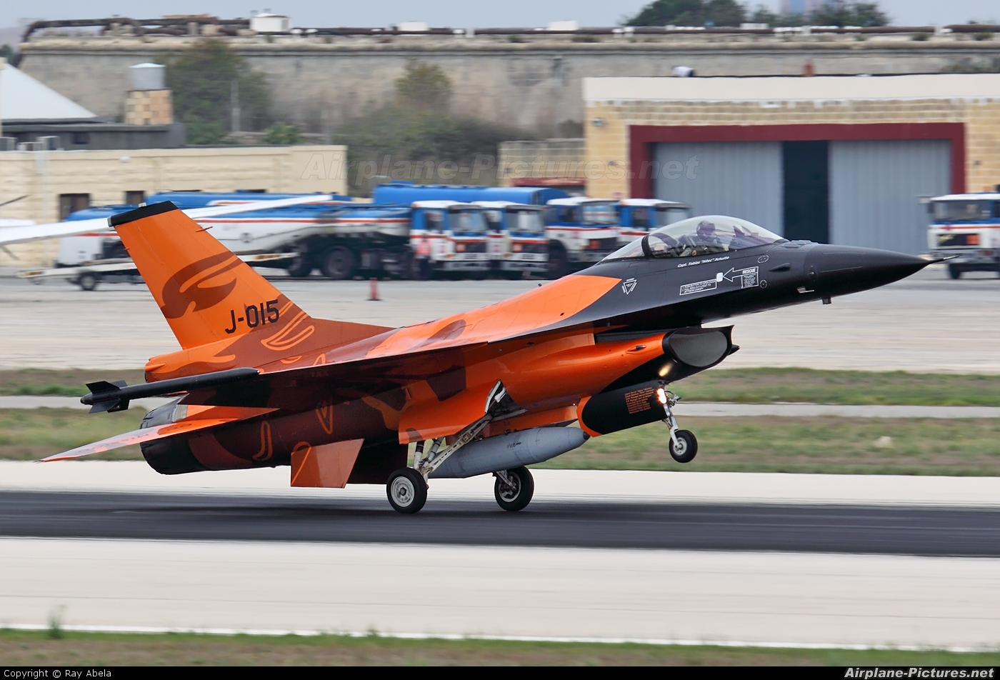 Netherlands - Air Force J-015 aircraft at Malta Intl