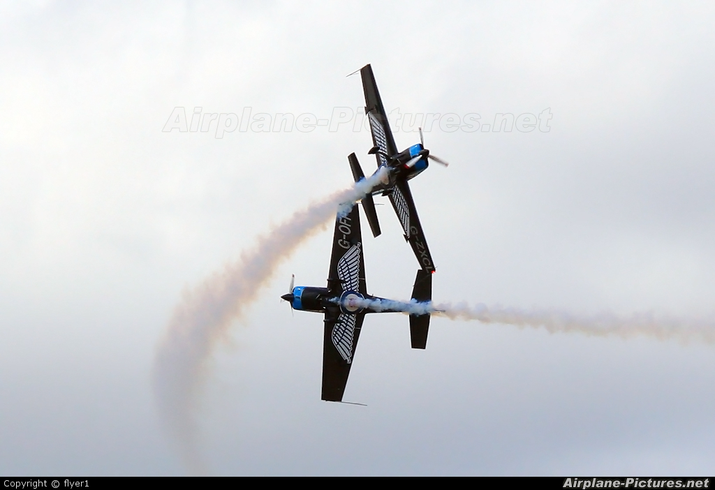 "2 Excel Aviation ""The Blades Aerobatic Team"" G-OFFO aircraft at Farnborough"