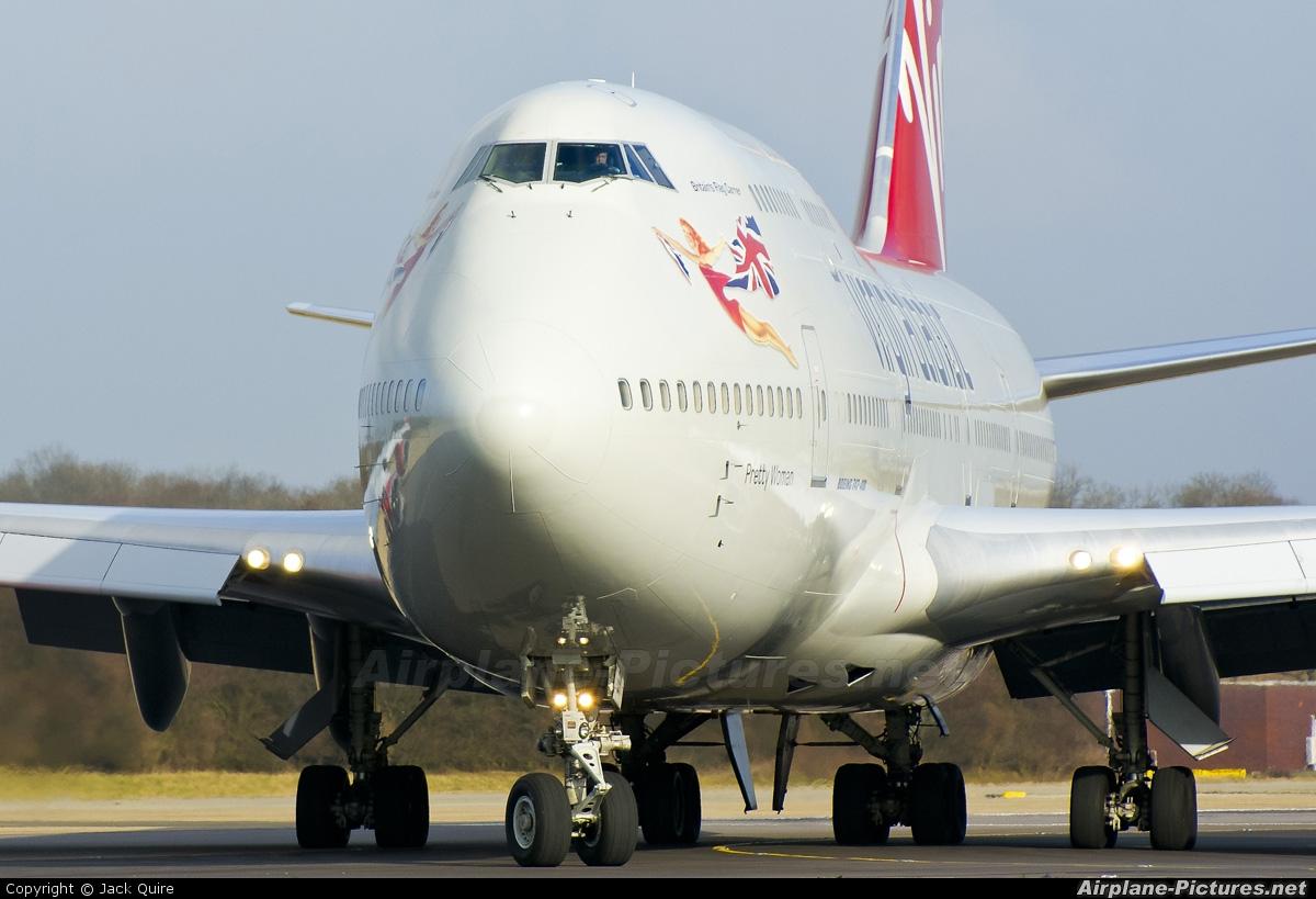 Virgin Atlantic G-VROY aircraft at London - Gatwick