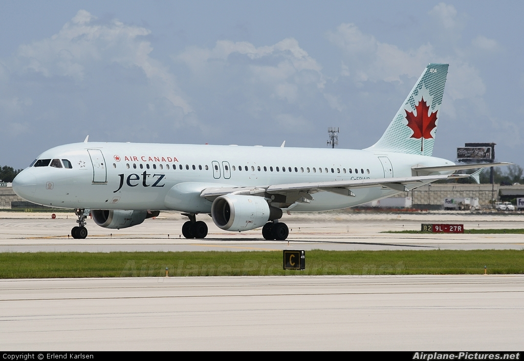 Air Canada Jetz C-FPWD aircraft at Fort Lauderdale - Hollywood Intl