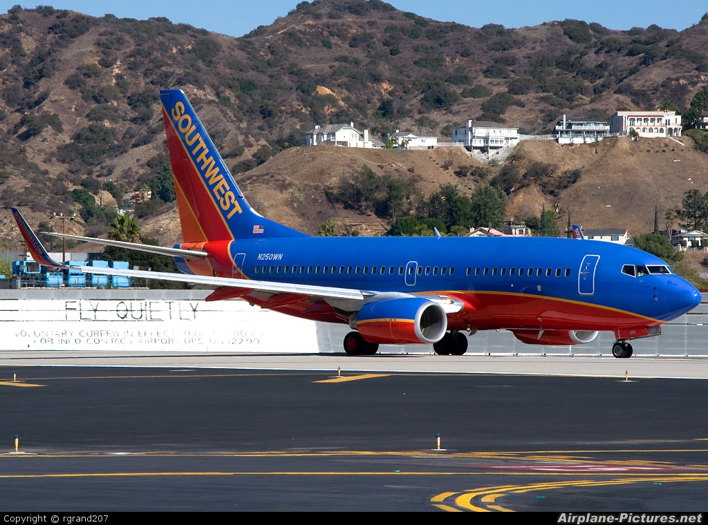 Southwest Airlines N250WN aircraft at Burbank
