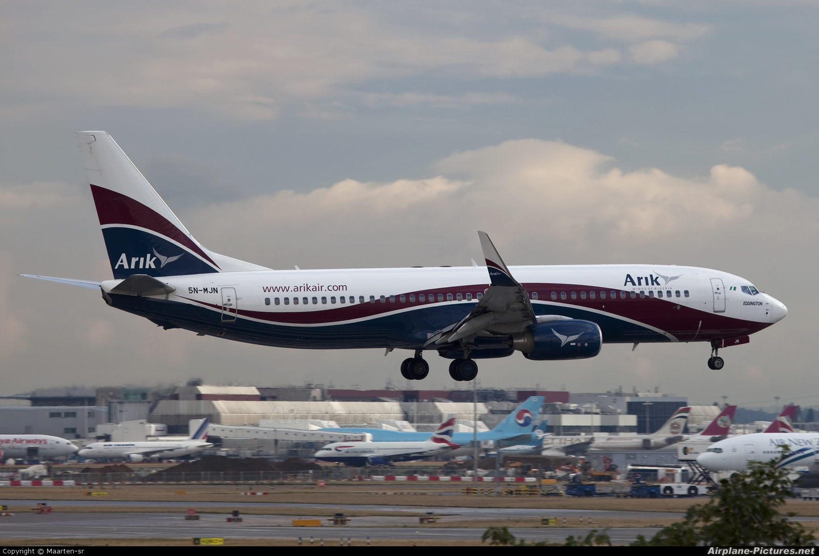 Arik Air 5N-MJN aircraft at London - Heathrow