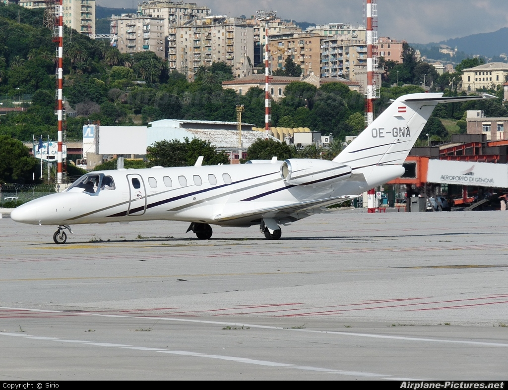Austin Jet Holding OE-GNA aircraft at Genoa - Sestri
