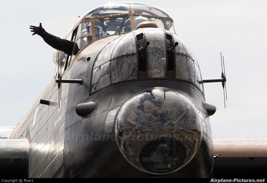 "Royal Air Force ""Battle of Britain Memorial Flight"" PA474 aircraft at Farnborough"