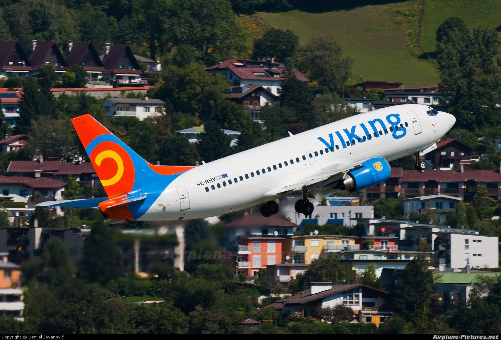 Viking Airlines SE-RHV aircraft at Innsbruck