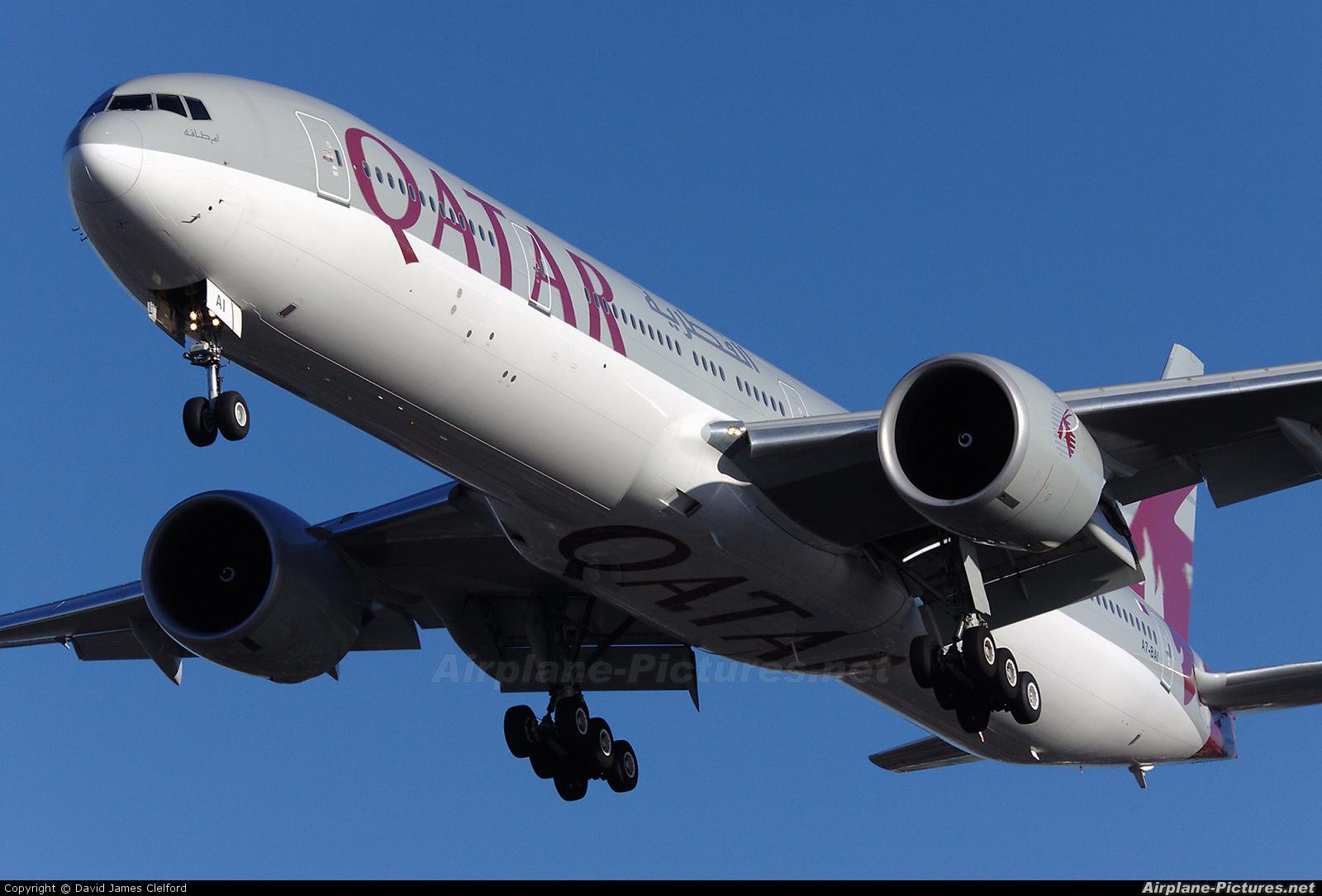 Qatar Airways A7-BAI aircraft at London - Heathrow