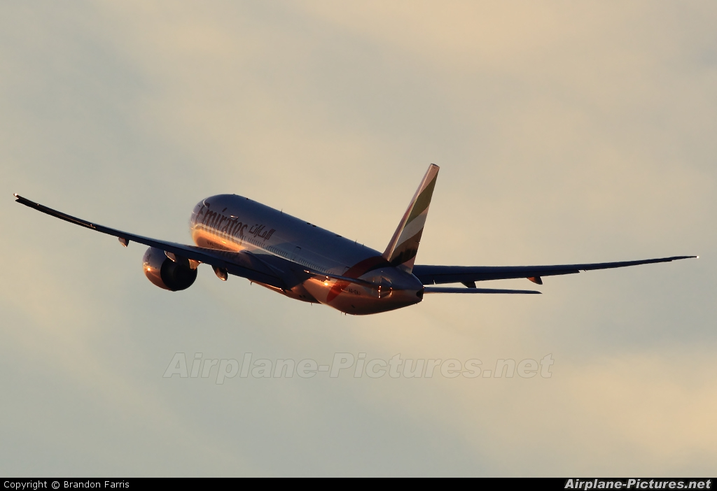 Emirates Airlines A6-EWJ aircraft at Los Angeles Intl
