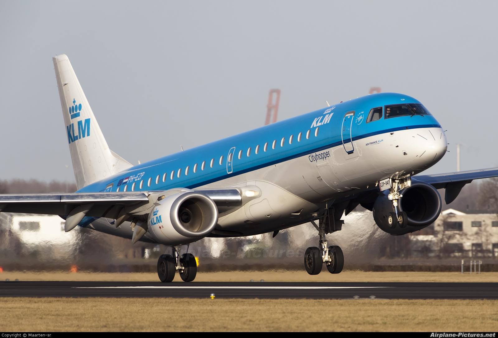 KLM Cityhopper PH-EZP aircraft at Amsterdam - Schiphol