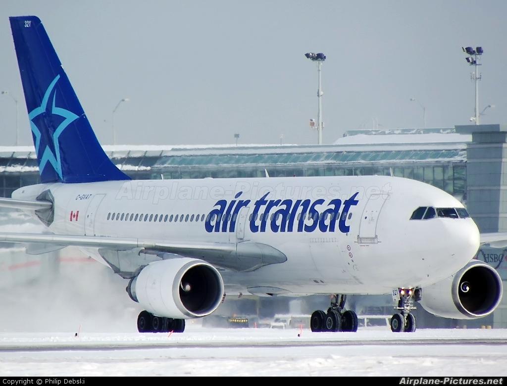 c gvat air transat airbus a310 at toronto pearson intl on photo id 117690 airplane