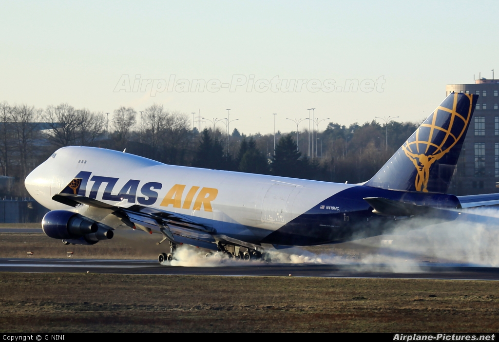 Atlas Air N419MC aircraft at Luxembourg - Findel