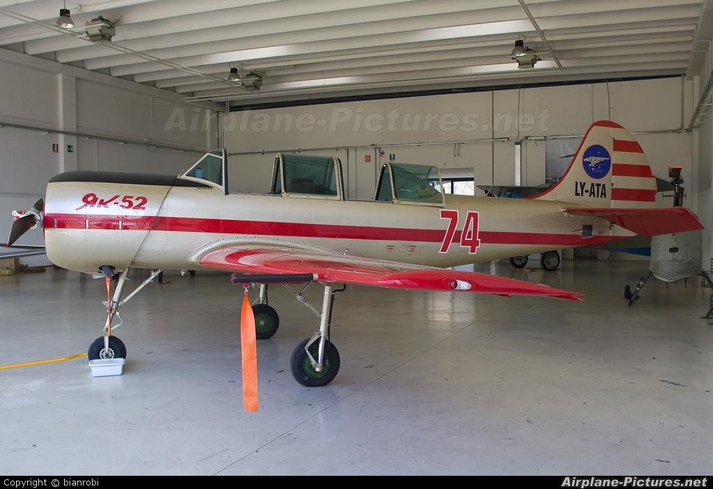 Private LY-ATA aircraft at Trento - Mattarello