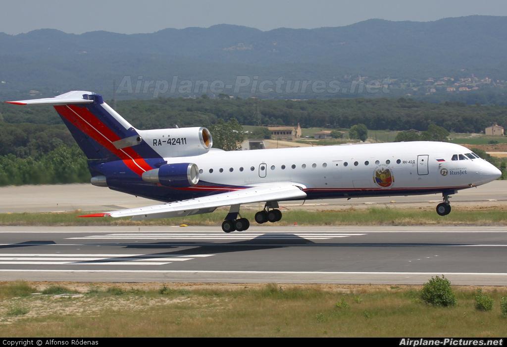 Rusjet Aircompany RA-42411 aircraft at Girona - Costa Brava