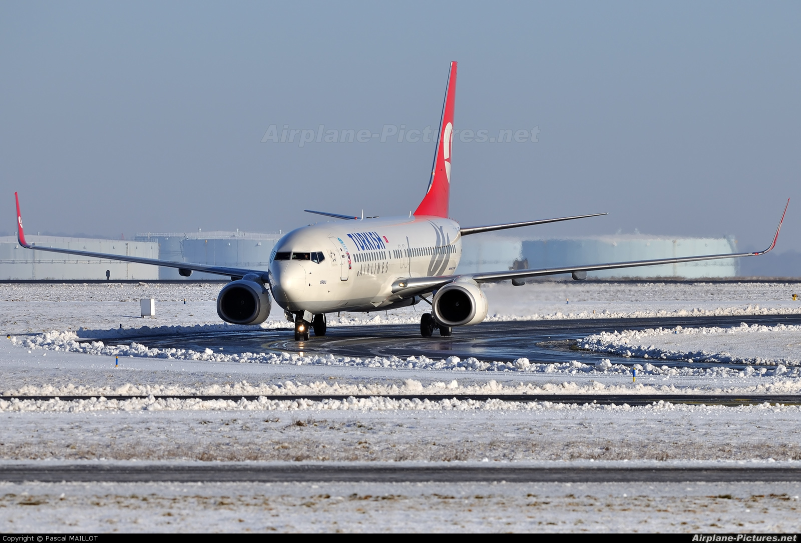 Turkish Airlines TC-JFL aircraft at Paris - Charles de Gaulle