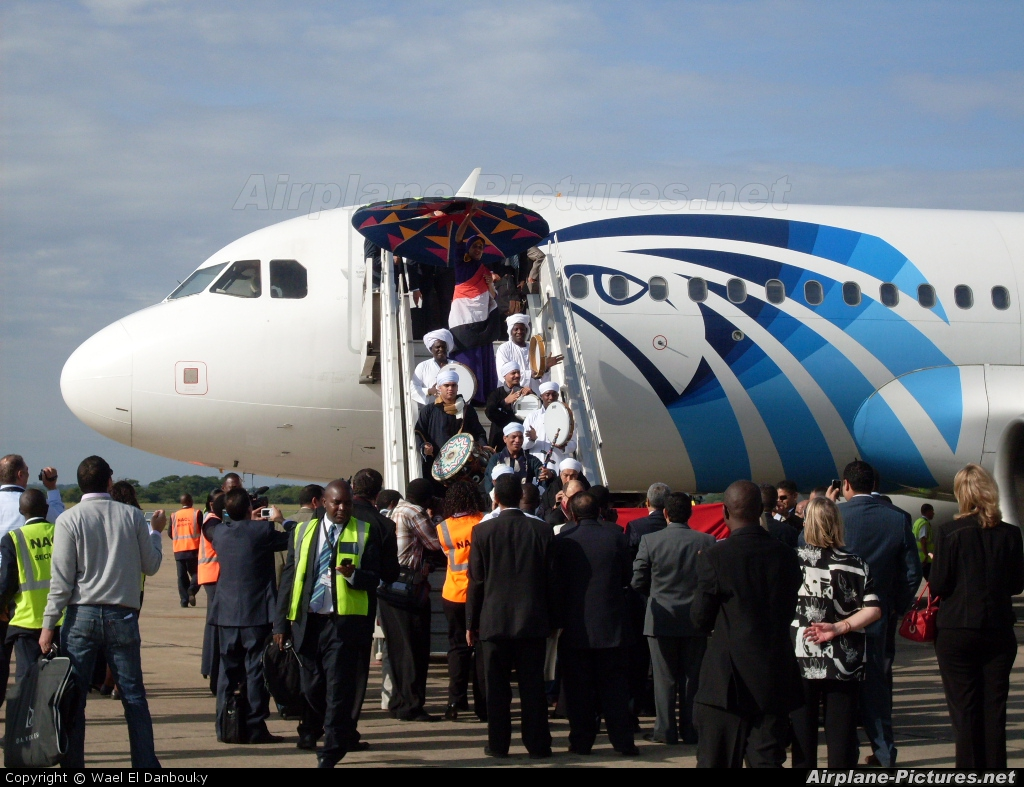 Egyptair SU-GCD aircraft at Lusaka