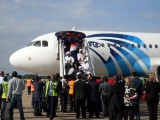 Maiden flight of Egypt air to Zambia title=