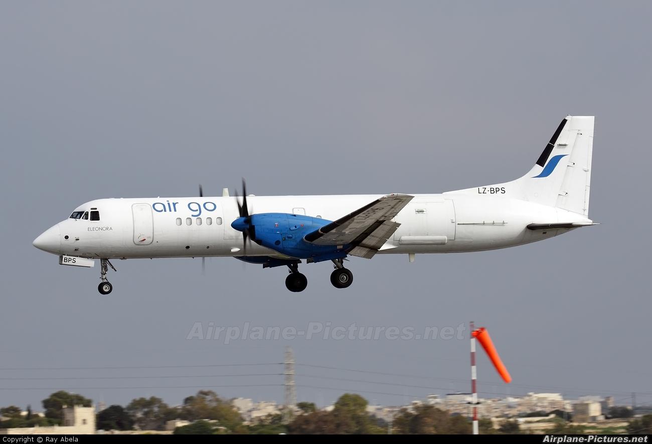 Air Go LZ-BPS aircraft at Malta Intl